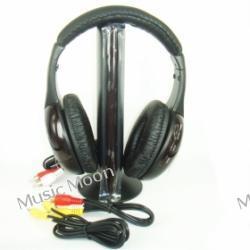HIT SŁUCHAWKI BEZPRZEWODOWE 5w1 FM Mikrofon
