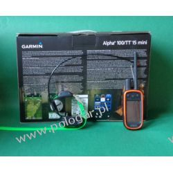 Garmin Alpha 100 z obrożą TT15 Mini   śledzenie + sygnalizacja świetlna + Funkcja szkolenia Zwierzęta