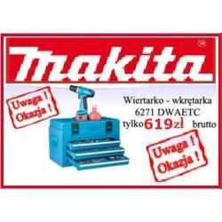Wiertarko Wkrętarka Makita 6271DWAETC + 2 x akumulator + 116 części