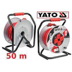 Przedłużacz bębnowy 50 m 3,6 kW stalowy bęben 14,2 kg