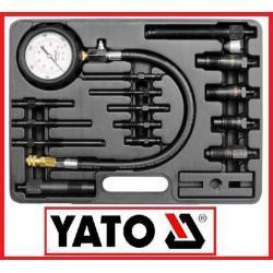 Miernik próbnik ciśnienia sprężania w silnikach diesla 16 części w walizce 70 bar