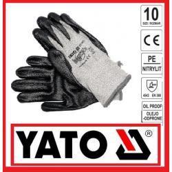 Rękawice antyprzecięciowe olejoodporne nitrylit CE