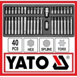Bity torx hex spline 40 części + walizka FA VAT
