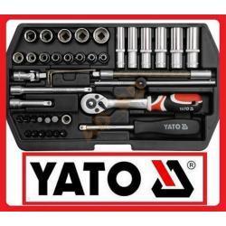 KLUCZE NASADOWE 1/4 42CZĘŚCI YT-1448 YATO MEGA PROMOCJA !!!