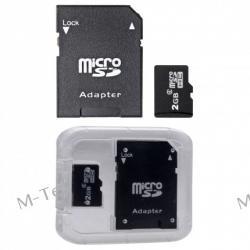 Karta Pamięci microSD 2 GB SDHC class 4 + Adapter SD
