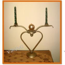 """Świecznik stołowy """" Serce """" na 3 świece."""