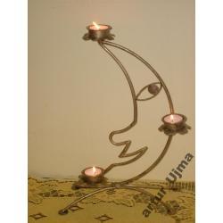 Świecznik  księżyc,świeczniki ,ozdoby,prezenty