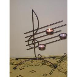 Świecznik, świeczniki, metaloplastyka, dekoracje