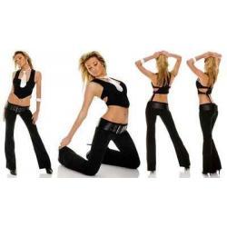Spodnie eleganckie z paskiem r.42