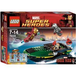 76006 IRON MAN  BITWA O PORT (Iron Man: Extremis Sea Port Battle ) - KLOCKI LEGO SUPER HEROES Friends
