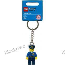 850933  BRELOK Z FIGURKĄ POLICJANTA (City Policeman Key Chain) LEGO CITY Pociąg