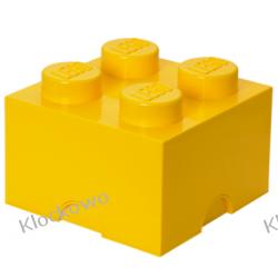 POJEMNIK LEGO 4 ŻÓŁTY - LEGO POJEMNIKI Kompletne zestawy