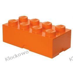 POJEMNIK LEGO 8 POMARAŃCZOWY - LEGO POJEMNIKI Ninjago