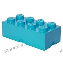 POJEMNIK LEGO 8 LAZUROWY - LEGO POJEMNIKI Playmobil