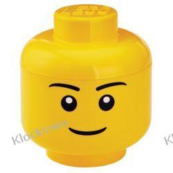 POJEMNIK LEGO GŁÓWKA CHŁOPIEC L - LEGO POJEMNIKI