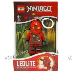MINI LATARKA LED LEGO - CZERWONY NINJA KAI - BRELOK