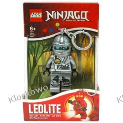 MINI LATARKA LED LEGO - NINJA TITANIUM ZANE  - BRELOK