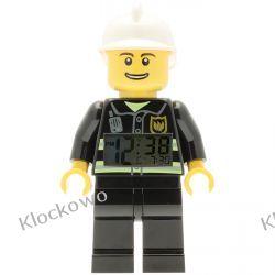 9003844 - ZEGAR - STRAŻAK (Lego City Fireman Minifigure Clock)  Playmobil