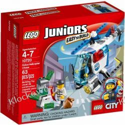 10720 - POLICYJNY HELIKOPTER (Police Helicopter Chase) - KLOCKI LEGO JUNIORS Policja