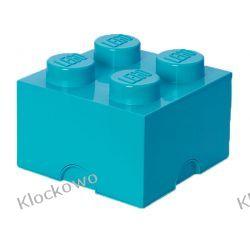 POJEMNIK LEGO 4 LAZUROWY - LEGO POJEMNIKI Playmobil