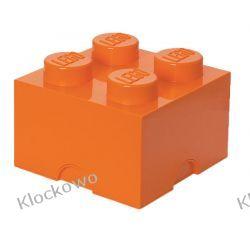 POJEMNIK LEGO 4 POMARAŃCZOWY - LEGO POJEMNIKI Playmobil