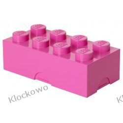ŚNIADANIÓWKA LEGO KLOCEK RÓŻOWY - LEGO POJEMNIKI Playmobil