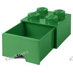 POJEMNIK LEGO 4 Z SZUFLADĄ CIEMNOZIELONY - LEGO POJEMNIKI