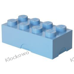 ŚNIADANIÓWKA LEGO KLOCEK JASNONIEBIESKI - LEGO POJEMNIKI Playmobil