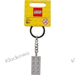 851406 BRELOCZEK ZE SREBRNYM KLOCKIEM (Silver 2x4 Stud Keychain) - LEGO® Inne zestawy