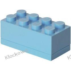 MINI POJEMNIK LEGO 8 JASNONIEBIESKI- LEGO POJEMNIKI Kompletne zestawy