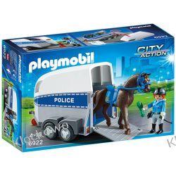 PLAYMOBIL 6922 JEDNOSTKA KONNA Z PRZYCZEPKĄ - CITY ACTION Playmobil