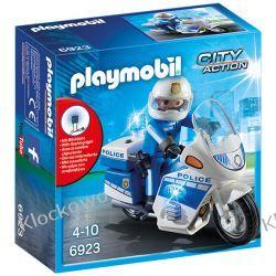 PLAYMOBIL 6923 MOTOR POLICYJNY ZE ŚWIATŁEM LED - CITY ACTION Miasto