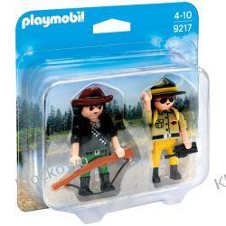 PLAYMOBIL 9217 DUO PACK: STRAŻNIK I KŁUSOWNIK - WILD LIFE Playmobil