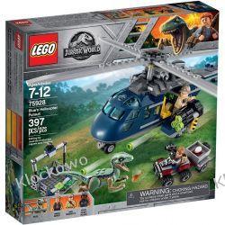 75928 POŚCIG ZA ŚMIGŁOWCEM (Blue's Helicopter Pursuit) - KLOCKI LEGO JURASSIC WORLD Kompletne zestawy