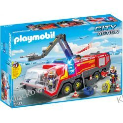 PLAYMOBIL 5337 POJAZD STRAŻACKI NA LOTNISKU ZE ŚWIATŁEM - CITY ACTION Playmobil