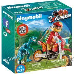 PLAYMOBIL 9431 ROWER MOTOCROSSOWY Z RAPTOREM - THE EXPLORERS Playmobil