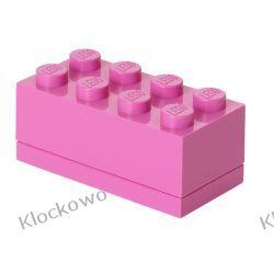 MINI POJEMNIK LEGO 8 RÓŻOWY- LEGO POJEMNIKI Dla Dzieci