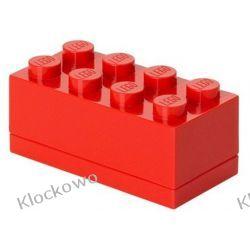MINI POJEMNIK LEGO 8 CZERWONY- LEGO POJEMNIKI Dla Dzieci