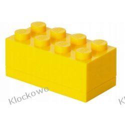 MINI POJEMNIK LEGO 8 ŻÓŁTY - LEGO POJEMNIKI Dla Dzieci