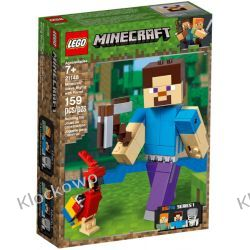 21148 MINECRAFT BIGFIG — STEVE Z PAPUGĄ (Minecraft Steve BigFig with Parrot)- KLOCKI LEGO MINECRAFT Playmobil