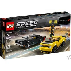 75893 2018 DODGE CHALIENGER SRT DEMON ORAZ DODGE CHARGER R/T KLOCKI LEGO SPEED CHAMPIONS Racers
