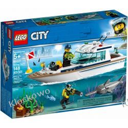 60221 JACHT (Diving Yacht) KLOCKI LEGO CITY Playmobil