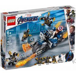 76123  KAPITAN AMERYKA : ATAK OUTRIDERÓW ( Captain America: Outriders Attack )- KLOCKI LEGO SUPER HEROES  Dla Dzieci