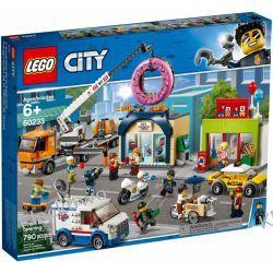 60233 OTWARCIE SKLEPU Z PĄCZKAMI (Donut shop opening) KLOCKI LEGO CITY Kompletne zestawy
