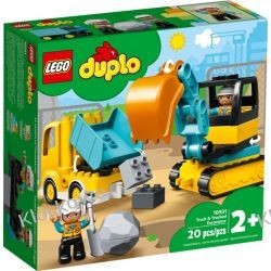 10931 CIĘŻARÓWKA I KOPARKA GĄSIENICOWA (Truck & Tracked Excavator) KLOCKI LEGO DUPLO  Playmobil