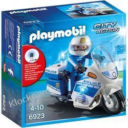 PLAYMOBIL 6923 MOTOR POLICYJNY ZE ŚWIATŁEM LED Dla Dzieci