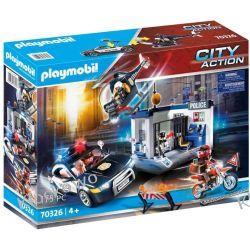 PLAYMOBIL 70326 ZESTAW POLICJA Z HELIKOPTEREM  Dla Dzieci