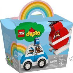 10957 HELIKOPTER STRAŻACKI I RADIOWÓZ (Fire Helicopter & Police Car) KLOCKI LEGO DUPLO  Dla Dzieci