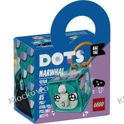 41928 ZAWIESZKA Z NARWALEM (Bag Tag Narwhal) KLOCKI LEGO DOTS Dla Dzieci