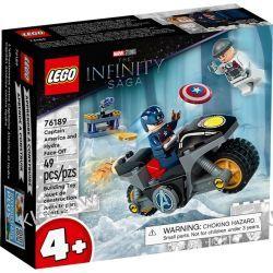 76189 KAPITAN AMERYKA I POJEDYNEK Z HYDRĄ (Captain America and Hydra Face-Off) - KLOCKI LEGO SUPER HEROES Klocki